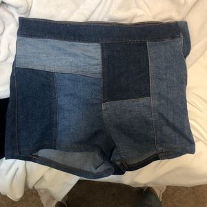 Mixed jean free people shorts